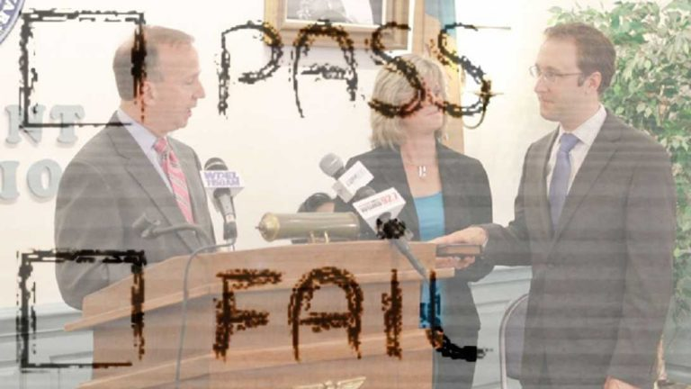Mark Murphy is sworn in as Secretary of Education, June 1, 2012. (courtesy of news.delaware.gov, <a href=