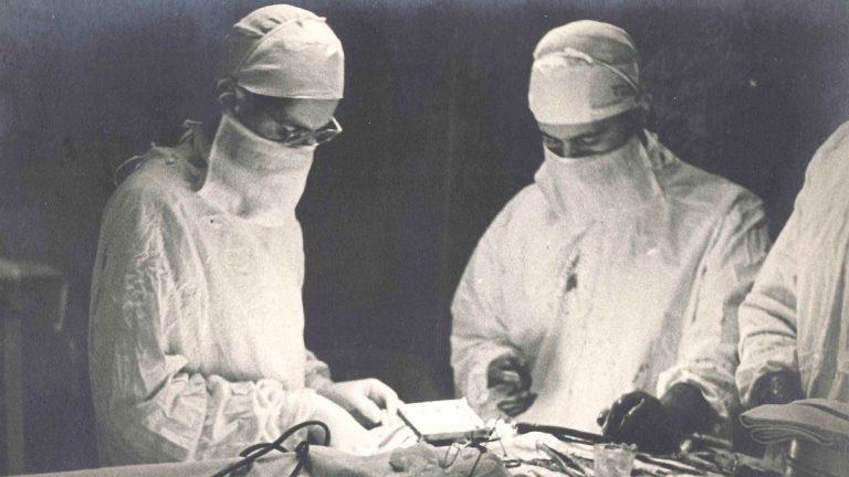 Dr. William Beecher Scoville (on left). (Courtesy of Luke Dittrich)