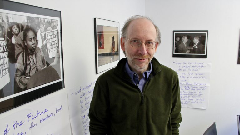 Paul Socolar, who founded the Philadelphia Public School Notebook in 1994, will step down in 2015. (Emma Lee/WHYY)