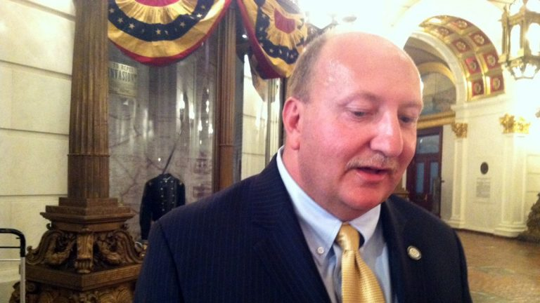 Allentown Mayor Ed Pawlowski, the only Democrat from northeastern Pa. to launch a bid for governor, is ending his campaign. He is shown here in September 2013. (Mary Wilson/for NewsWorks)