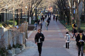 Students walk through the University of Pennsylvania campus in Philadelphia. (NewsWorks file photo)