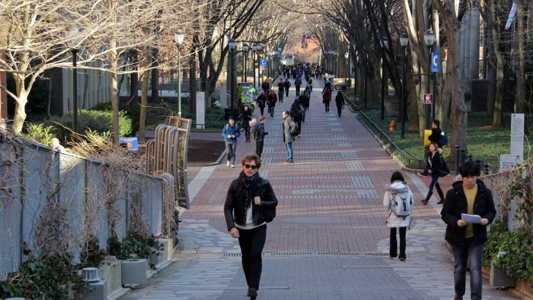 Students walk through the University of Pennsylvania campus in Philadelphia. (NewsWorks file photo)