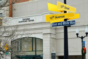 Penn State Altoona's presence is evident on 12th Avenue in downtown Altoona.  (Kate Lao Shaffner/WPSU)