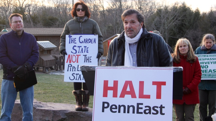 Vincent DiBianca, a resident of Delaware Township contends that the PennEast pipeline is unnecessary. (Emma Lee/WHYY)