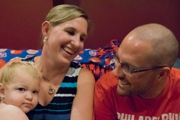 Rebecca, Jeremy, and their son, Noah. (Paige Pfleger/WHYY)