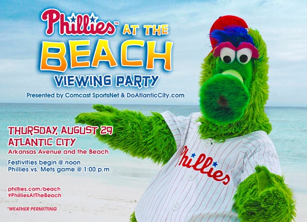 The Phanatic's fur protects him from sunburn, but you should probably bring along some sunscreen.