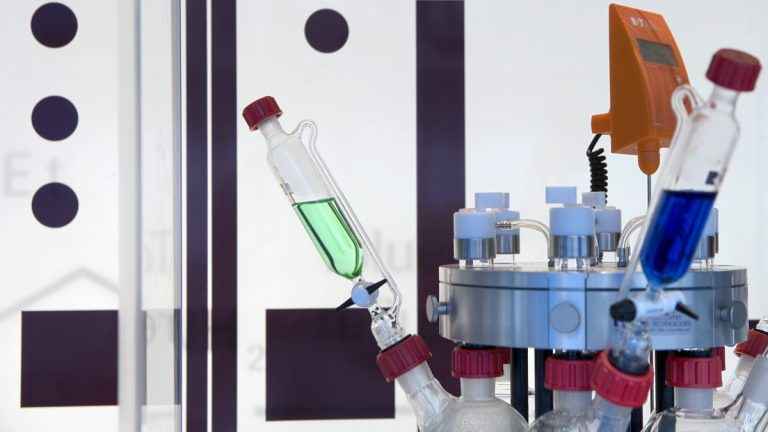 Pharmaceutical lab equipment is shown in this 2006 file photo. (Courtesy of AP Photo/KEYSTONE/Martin Ruetschi)