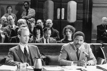 Tom Hanks as Andrew Beckett and Denzel Washington as Joe Miller in the 1993 film 'Philadelphia.' Suellen Kehler
