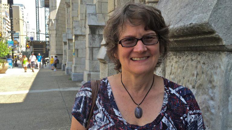 Phoebe Jones of the Global Women's Strike. (Dana DiFilippo/WHYY)