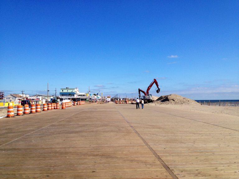 The Seaside Park boardwalk in September 2014. (Photo: Justin Auciello/for NewsWorks)