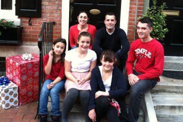 The Urbine family. (Laura Benshoff/for NewsWorks)