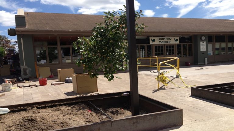 Work on the Market at the Fareway is nearing completion. (Courtesy of Eileen Reilly)