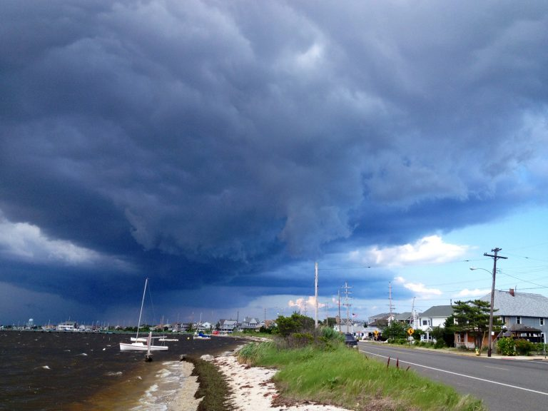A strong thunderstorm heading over Seaside Park in July 2013. (Photo: Justin Auciello/Jersey Shore Hurricane News)