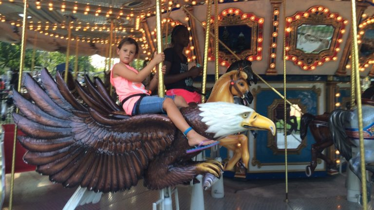 Head to Franklin Square Park for National Carousel Day on Friday. (Jen Bradley/for NewsWorks)