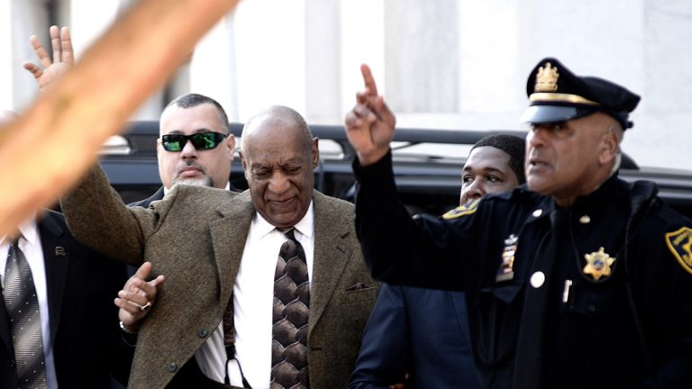 Bill Cosby arrives at the Montgomery County Courthouse Tuesday. (Bastiaan Slabbers/for NewsWorks).