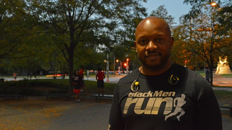 Brian Oglesby says the Black Men Run group is more than just a healthy brotherhood. (Paige Pfleger/WHYY)