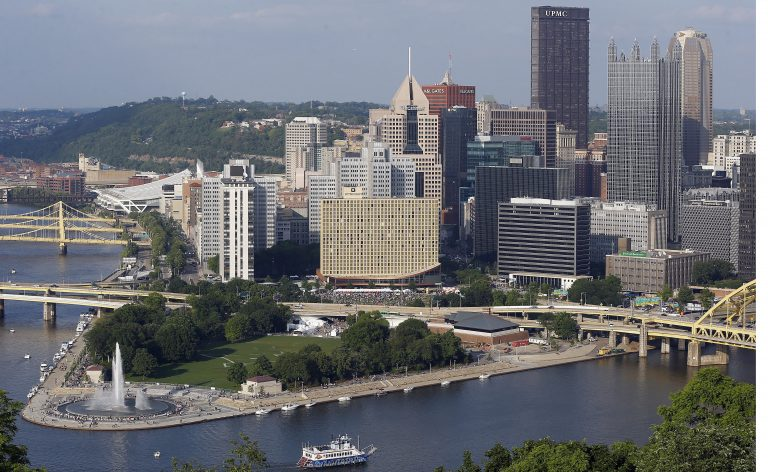 Point State Park in Pittsburgh (AP photo/Kieth Srakocic).