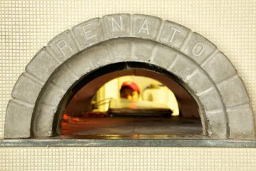 Pizzeria Vetri hybrid oven has duel openings allowing for better circulation of air and use of the oven by the chefs. (Nathaniel Hamilton/for NewsWorks)