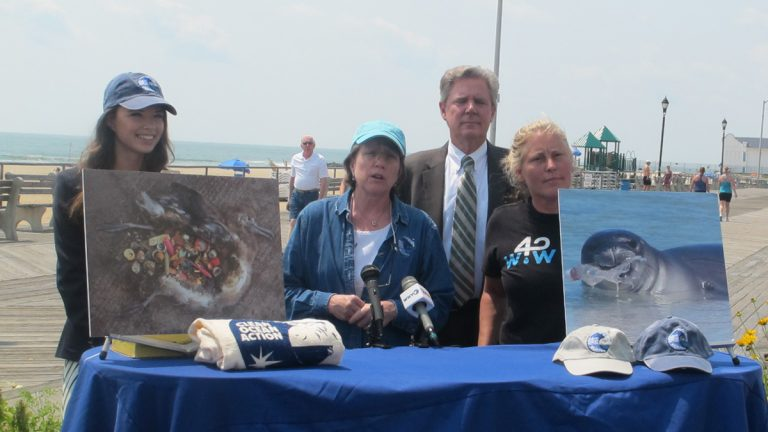 Clean Ocean Action is urging visitors to the Jersey Shore to forgo disposable plastic products. (Phil Gregory/WHYY)