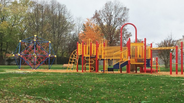 Eastlawn Park is now a vibrant playground for children.