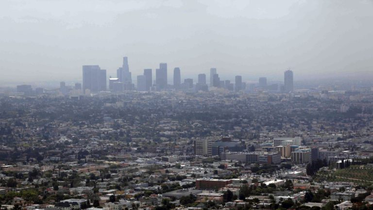 Smog covers downtown Los Angeles in this 2009 file photo. (AP Photo/Nick Ut)