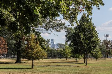 Camping during the papal visit will be available in a section of Philadelphia's East Fairmount Park. (Kimberly Paynter/WHYY)