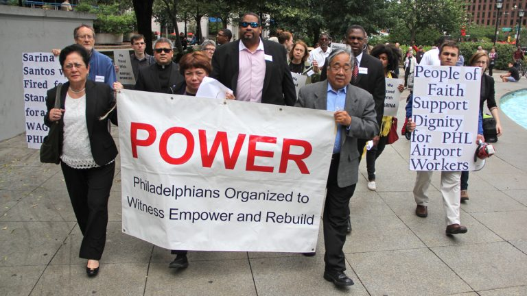 Bishop Dwayne Royster of the group Philadelphians Organized to Witness Empower and Rebuild (POWER) will join about a dozen of his colleagues from various U.S. religious groups to talk to aids to Pope Francis about his trip to America. (Emma Lee/WHYY)
