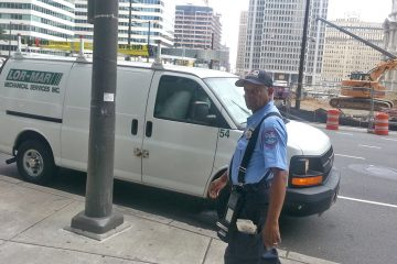 Philadelphia Parking Authority officials said enforcement agents give parents 20 minutes to drop students off before writing a ticket.  (Tom MacDonald/WHYY)