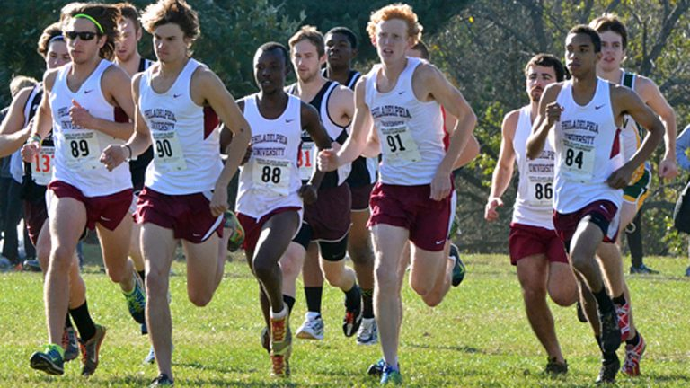 Runners participate in the Central Atlantic Collegiate Conference Cross Country Championships at Belmont Plateau in 2013 (Image courtesy of David Thomas)
