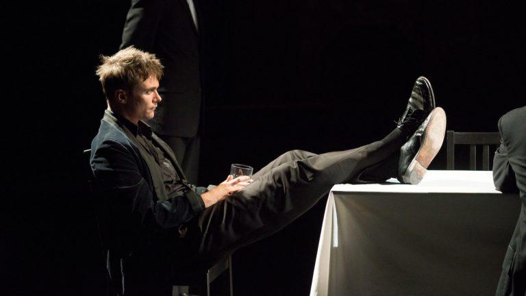 Josh Carpenter as Hamlet (Courtesy of Quintessence Theatre Group)
