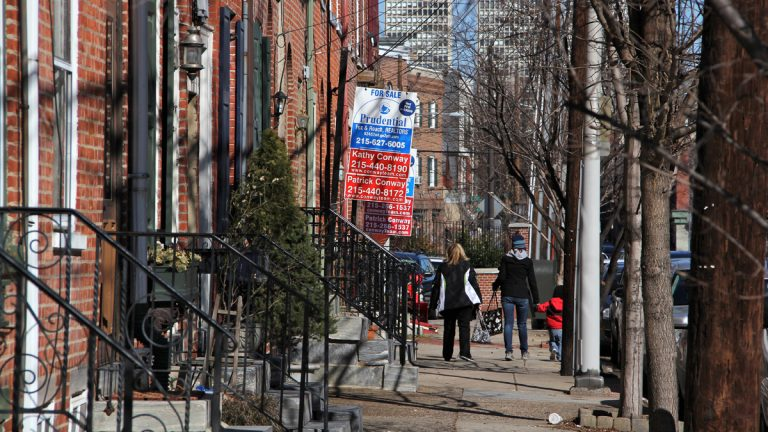 Second Street in Philadelphia's Queen Village neighborhood where homeowners are facing a median tax hike of more than $1,000 (Emma Lee/NewsWorks Photo, file)