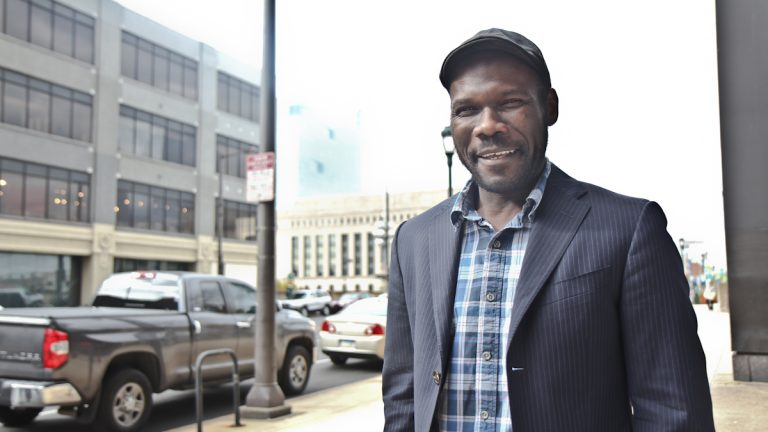 Quincy Riley-Greene is hoping to create a charter school that improves the experience of LGBT students. (Kimberly Paynter/WHYY)