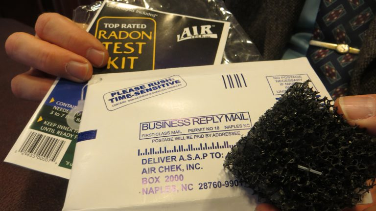 A radon testing kit. (WHYY file)
