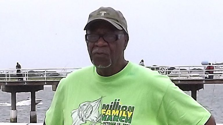 Ralph Hunter on the boardwalk at Caspian Avenue beach. (J. Woods/NewsWorks)