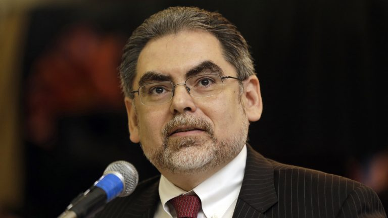 Pedro A. Ramos, chairman of the School Reform Commission, speaks during a news conference at Andrew Jackson Elementary School in Philadelphia. (AP file Photo/Matt Rourke)