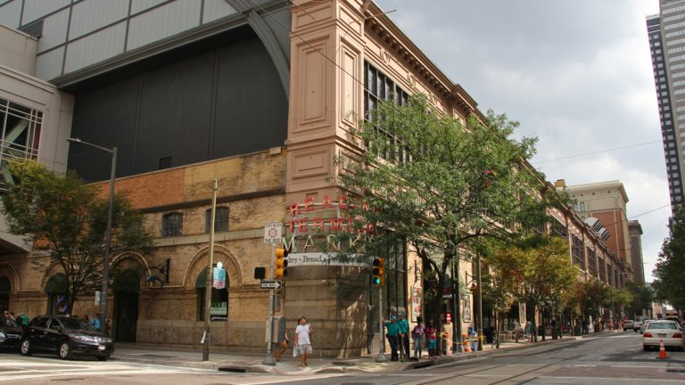 Five projects in Pennsylvania were awarded grants from the Knight Cities Challenge including Reading Terminal Market to host cooking demonstrations with different immigrant communities in Philadelphia.  (Emma Lee/WHYY)