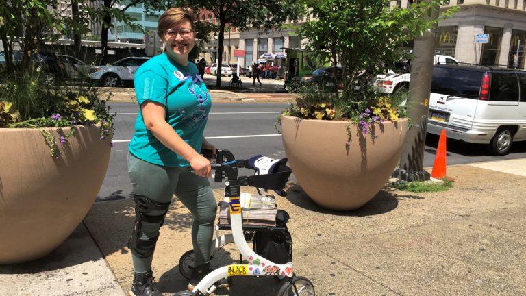 Rebecca Hamell of Fair Ride Philly. (Dana DiFilippo/WHYY)