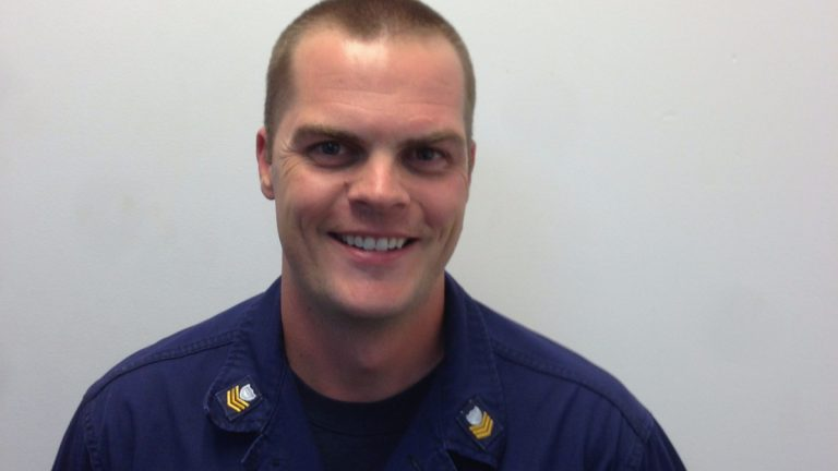 Petty Officer First Class Jarrod Bohler of the U.S. Coast Guard.