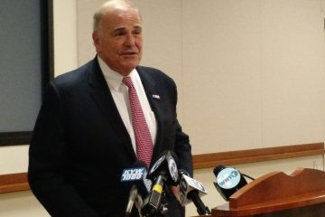Ed Rendell said he's not likely to choose among friends to offer a formal mayoral-race endorsement. (Katie Colaneri/WHYY)