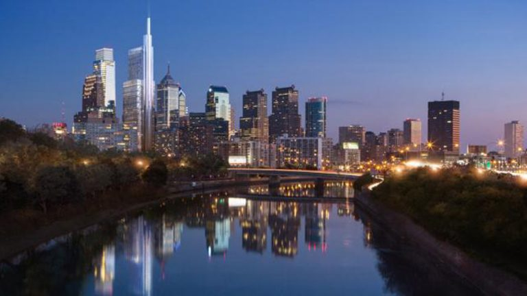 Rendering of Comcast Innovation Technology Center by Foster and Partners (PlanPhilly Image)