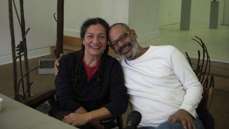 Rocio Cabello and Renny Molenaar at at iMPeRFeCT Gallery. (Courtesy of artblog)