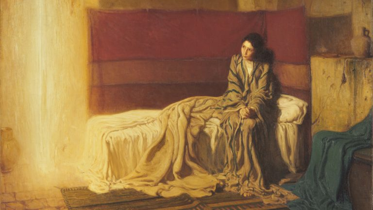 The Annunciation, 1898, by Henry Ossawa Tanner, the first work by an African American artist to be acquired by the Philadelphia Museum of Art (1899). The landmark painting can be seen as part of the exhibit