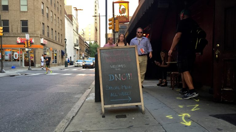 Center City restaurants are vying for DNC business. (Avi Wolfman-Arent/WHYY)