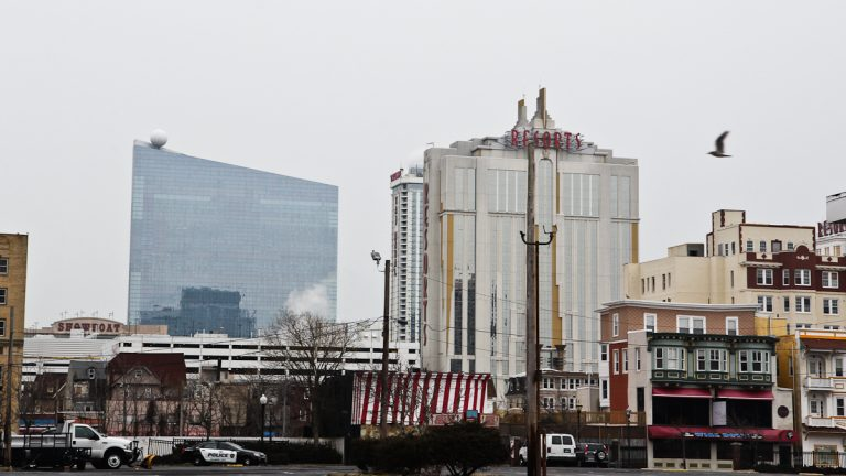 The Revel is on the left in this 2015 photo of Atlantic City. (Kimberly Paynter/WHYY)