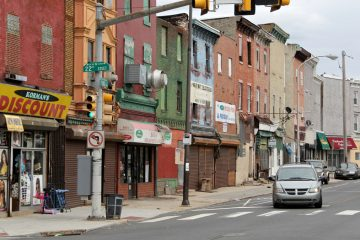 The Philadelphia Housing Authority is looking to revitalize the Ridge Avenue commercial corridor between Girard College and Cecil B. Moore Avenue. (Emma Lee/WHYY)