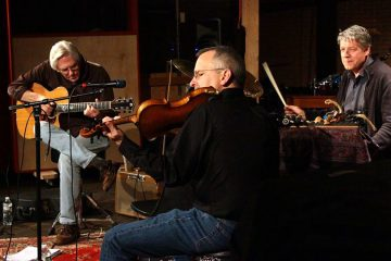From left: Richard Drueding, Rob Sanders and Jim Hamilton are shown performing at Rittenhouse Soundworks, a venue that is playing a part in Philly's jazz revival. (Image courtesy of Matthew Hamilton.)