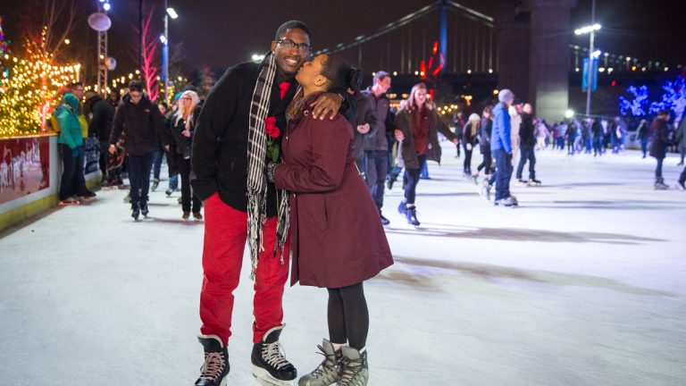Ice skating at the RiverRInk (Image courtesy  of Matt Stanley)