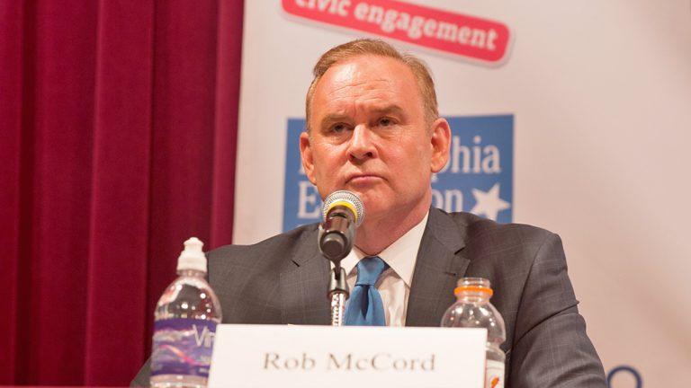 Pennsylvania State Treasurer Rob McCord announced his resignation effective February 12, 2015.  (Lindsay Lazarski/WHYY)