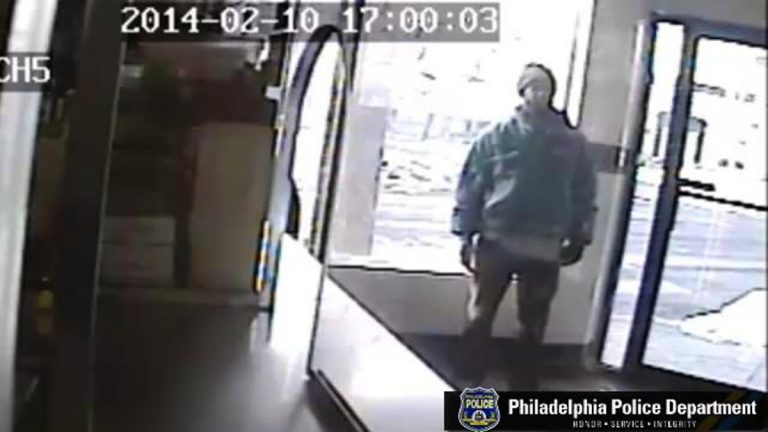 Surveillance image of the unknown suspect in a Monday afternoon purse snatching in Germantown. (Courtesy of Philadelphia Police)