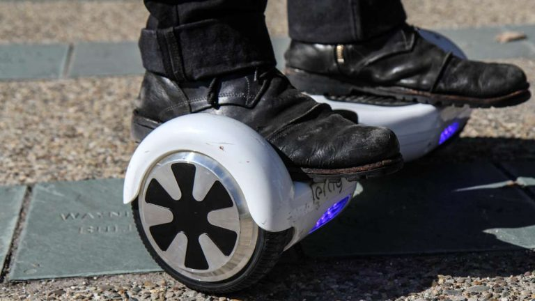 Philadelphia Councilman Bill Greenlee is proposing safety regulations for children riding hoverboards.(Kimberly Paynter/WHYY)